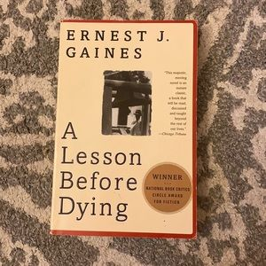 """A lesson before dying"" book"